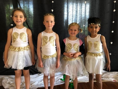 Recreation gymnasts at end-of-year display